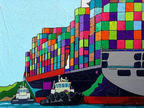 """Shipping"" 2021 Vlado Vesselinov"