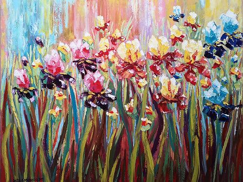 """Irises"" 2021 Anita Domeracka"