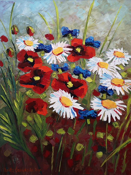 """Field flowers"" 2020 Anita Domeracka"
