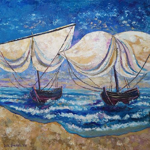 """""""Sailboats """" 2020 Anita Domeracka"""
