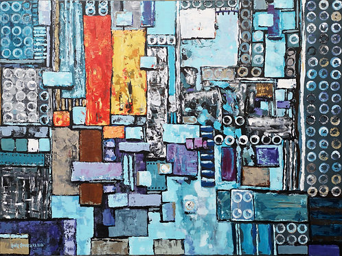 """""""Abstraction with ferret  """" 2020 Anita Domeracka"""