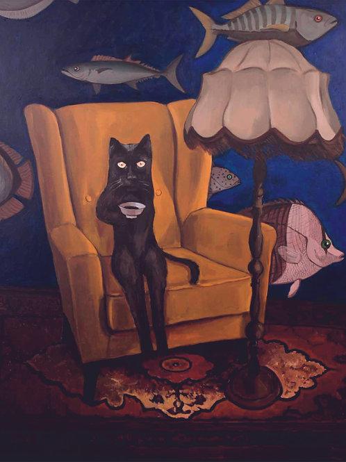 """A cat in an empty apartment"" 2019  Tomasz Kokott"
