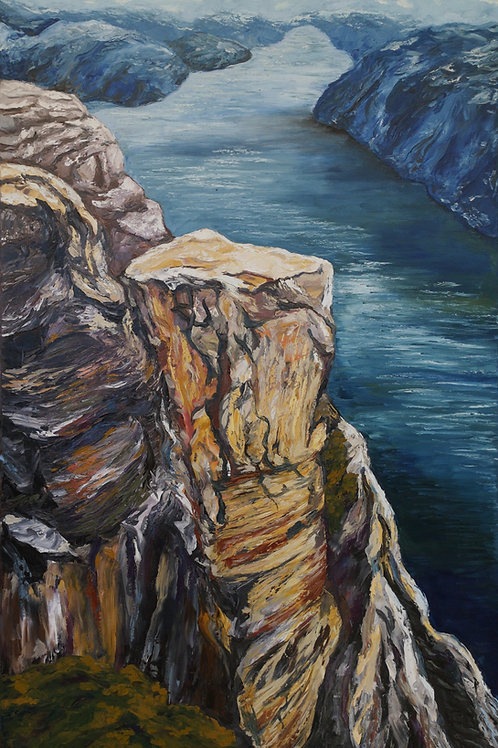 """Sapphire fjord "" 2020 Anita Domeracka"