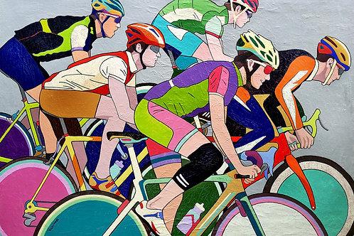 """Grand Final, Cyclists"" 2020 Vlado Vesselinov"