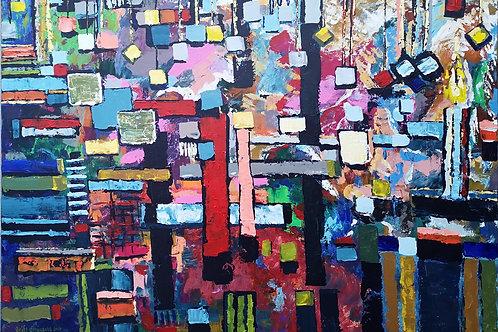 """Abstraction with a garland"" 2021 Anita Domeracka"