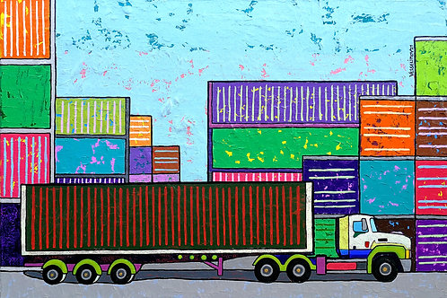 """Cargo Traffic"" 2021 Vlado Vesselinov"