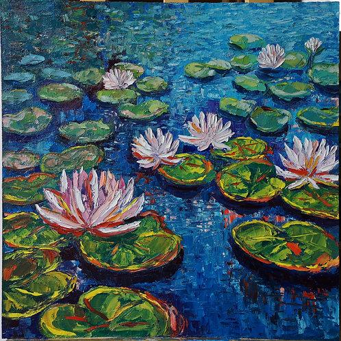 """""""Zosia's water lilies """" 2020 Anita Domeracka"""