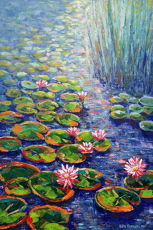 """Water lilies and rushes "" 2020 Anita Domeracka"