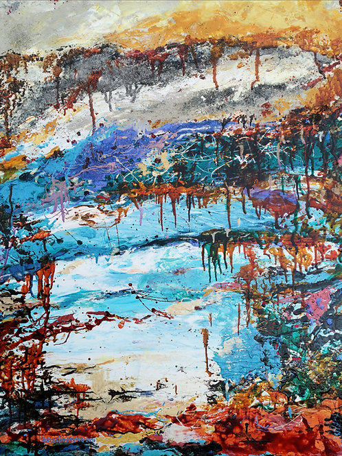 """Crimson deluge  "" 2020 Anita Domeracka"