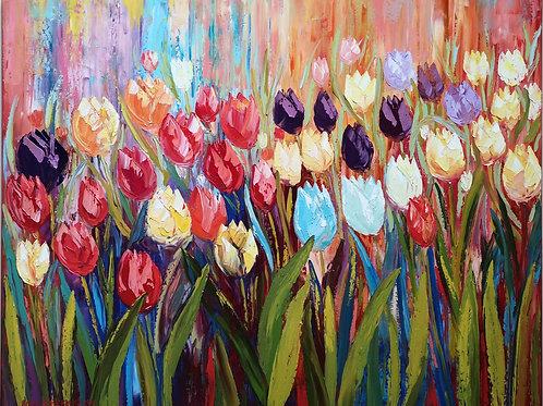 """Tulips   "" 2021 Anita Domeracka"