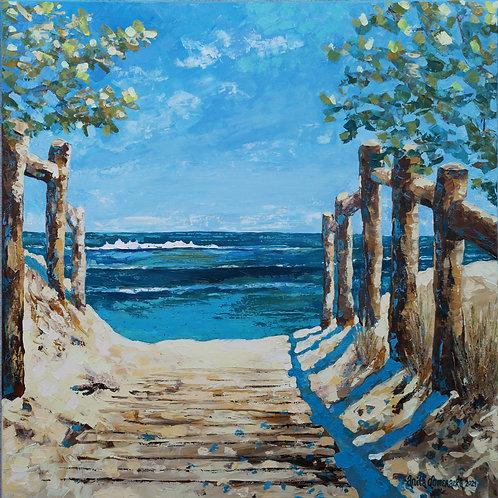 """Footbridge to the beach"" 2021 Anita Domeracka"