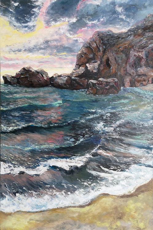 """Stormy sea "" 2020 Anita Domeracka"