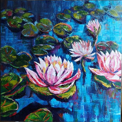 """Water lilies"" 2019 Anita Domeracka"