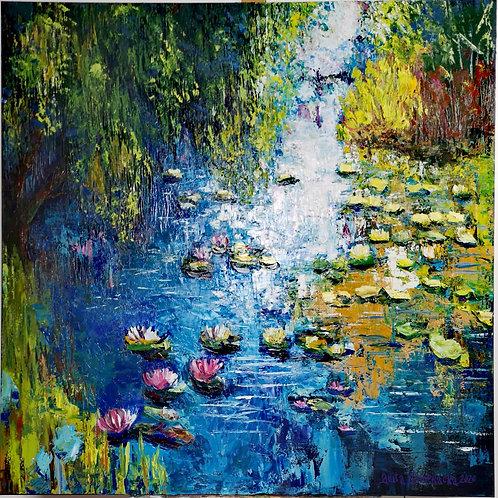 """Pink water lilies "" 2020 Anita Domeracka"