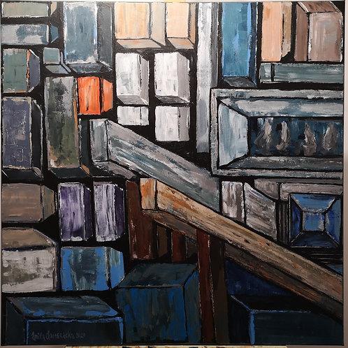 """""""Cube abstraction  """" 2020 Anita Domeracka"""