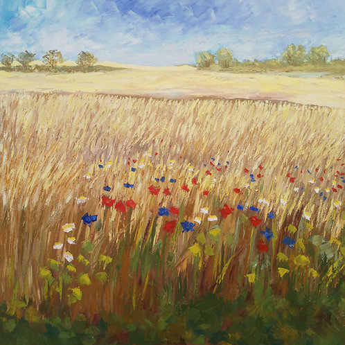 """The golden fields"" 2020 Anita Domeracka"