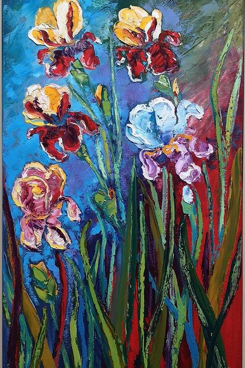 """Irises "" 2021 Anita Domeracka"