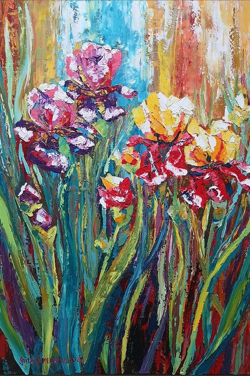"""Irises and emerald "" 2021 Anita Domeracka"