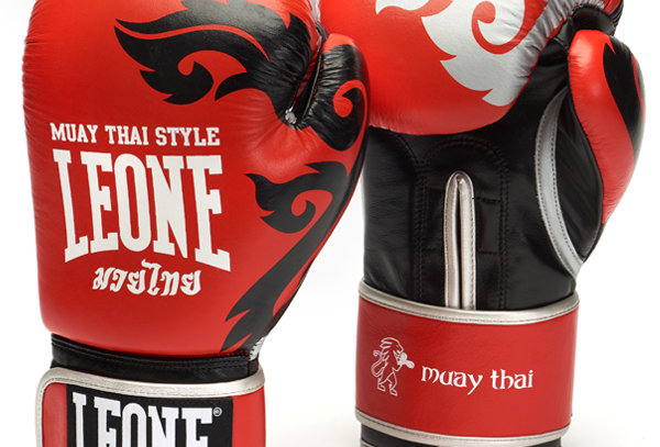 Leone 1947 Boxing Gloves GN031 MUAY THAI Red