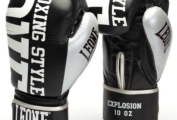 Leone 1947 Boxing Gloves GN055 Explosion Black 12oz