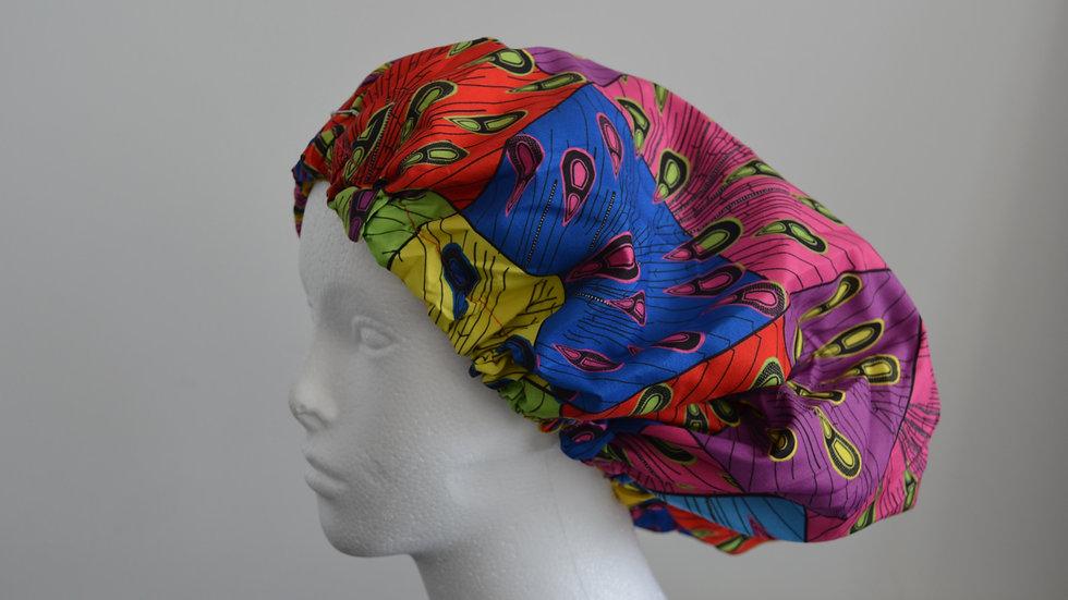 African Print Satin Bonnet