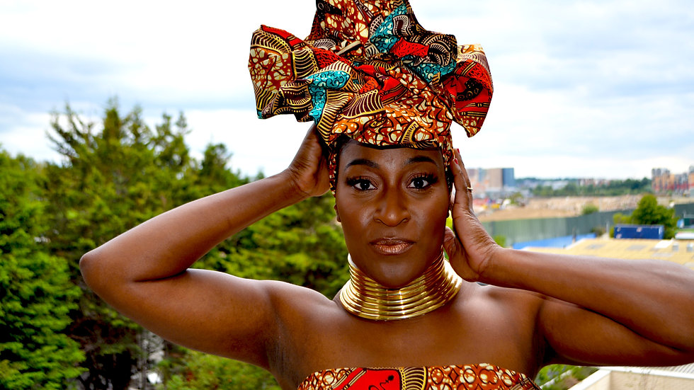 Gold African headwrap