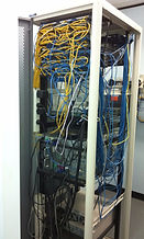 Server rack in a mess