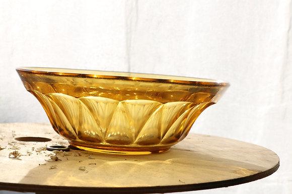 Anna Purna Mood - saladier vintage ambre