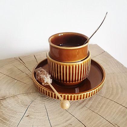 2 TASSES A CAFE VINTAGE AVEC SOUCOUPE