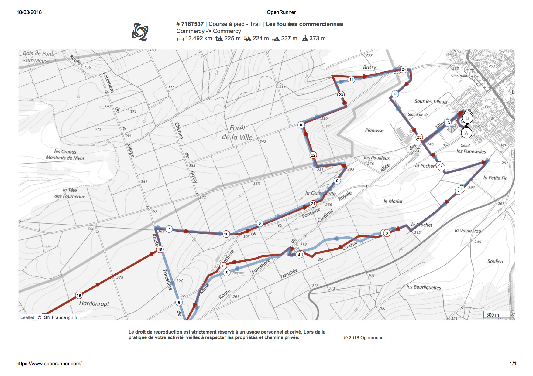 Trai de la Madeleine 13,500 KM