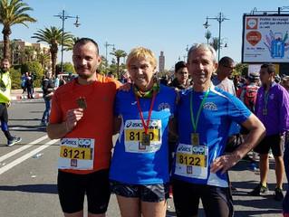 3 gaciens au Semi Marathon de Marrakech