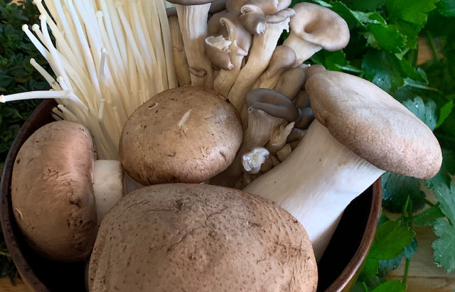 Brown and White: Mushroom Risotto