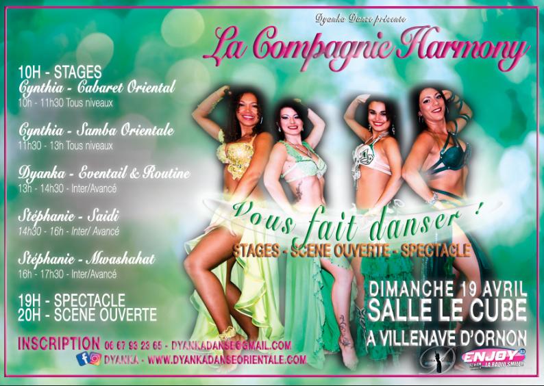 Stages danse orientale Bordeaux Scène ouverte Spectacle