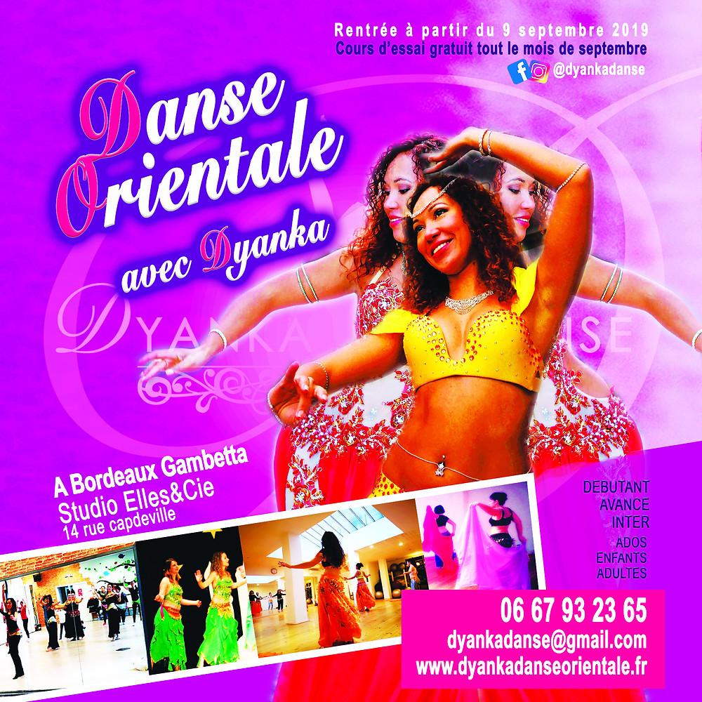cours de danse orientale à bordeaux rentrée 2019
