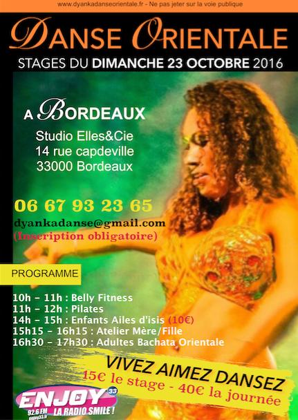 stage danse orientale octobre 2016