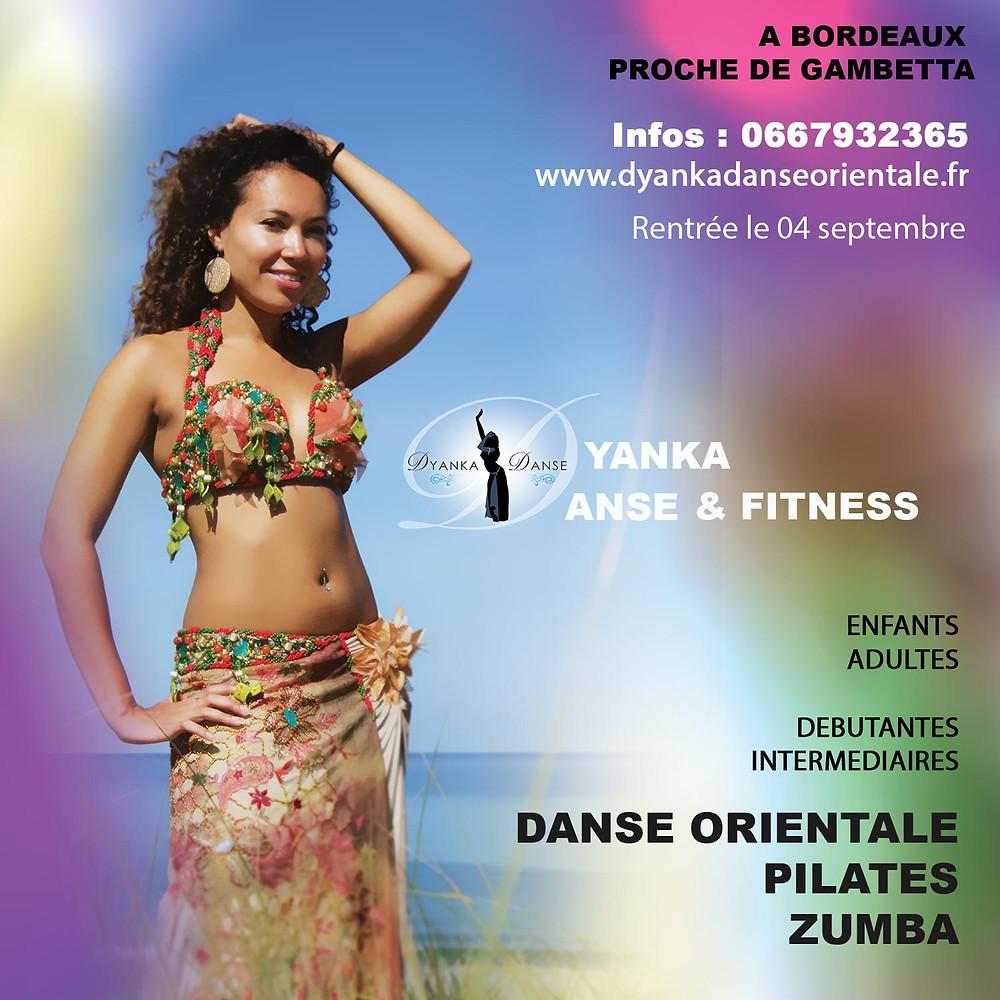 cours danse orientale pilates bordeaux