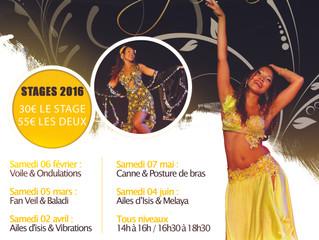 En 2016 : Stages de danse orientale !