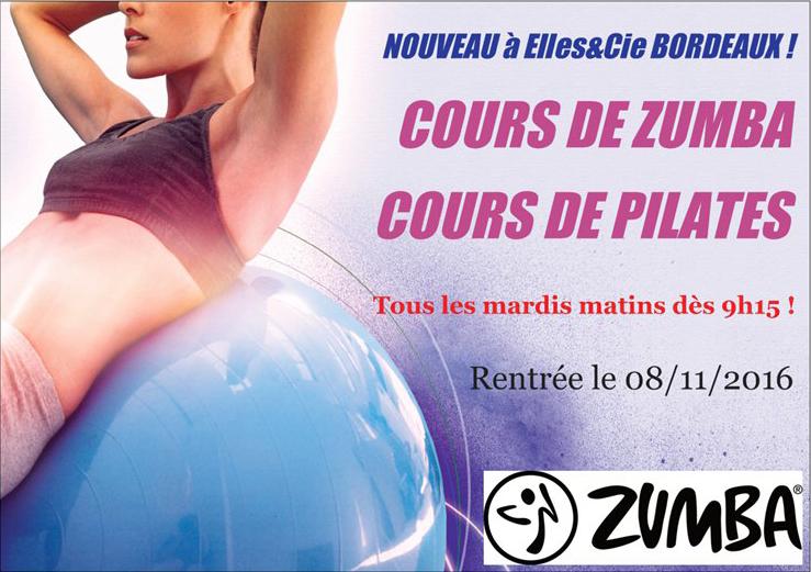 Cours zumba pilates mardi matin Bordeaux