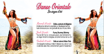 Stages d'été danse orientale bordeaux aout 2019