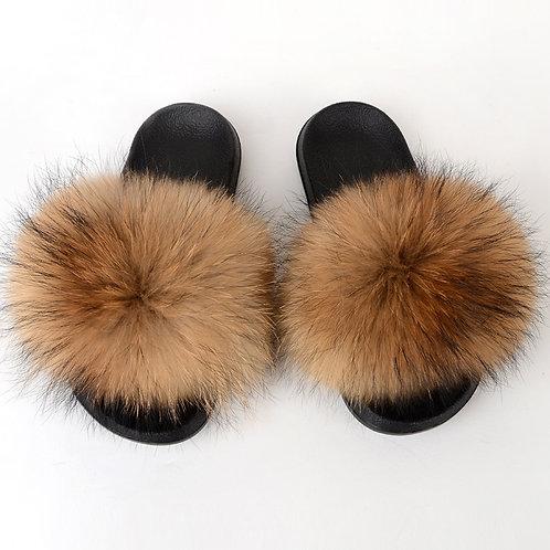 Tan Fox Slippers