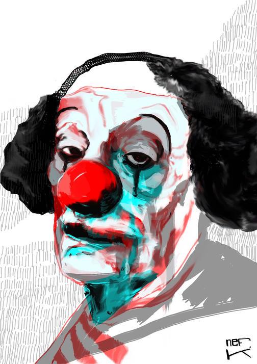 A clown during lockdown