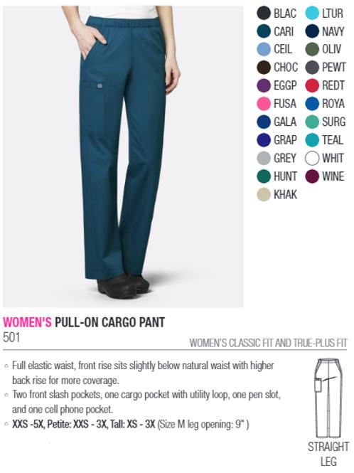 Plus/TALL Women's wonderwork Full Elastic Waist Pants - 501A