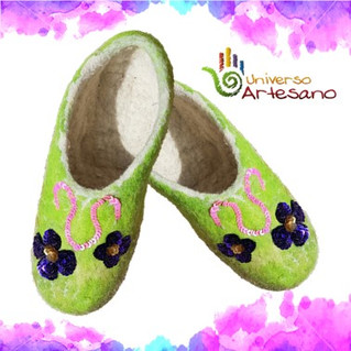 Embroidered Wool Sleepers made in Peru - Do not give up!!!
