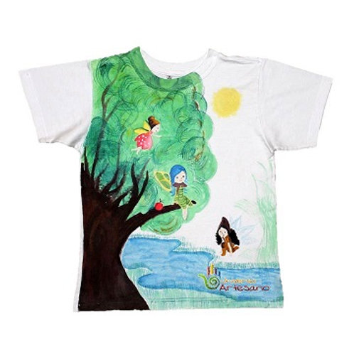 T-shirt for kids pima cotton, hand painted.