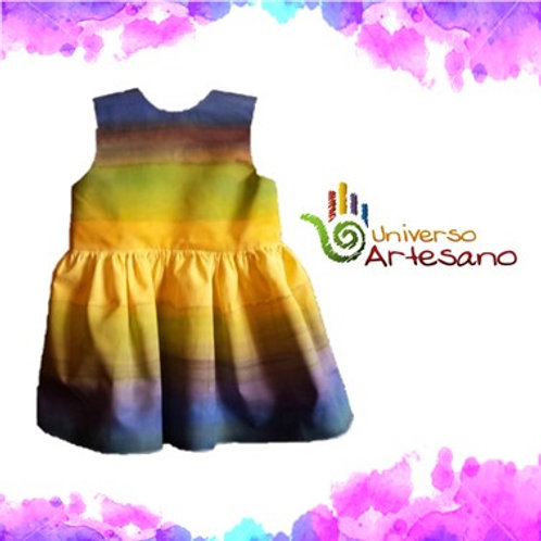 Luxury Handpainted Girl dress | Universo Artesano | Peru