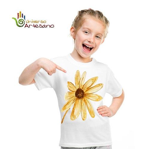 Girls T-shirt, 100% pima cotton, hand painted | Universo Artesano | Peru