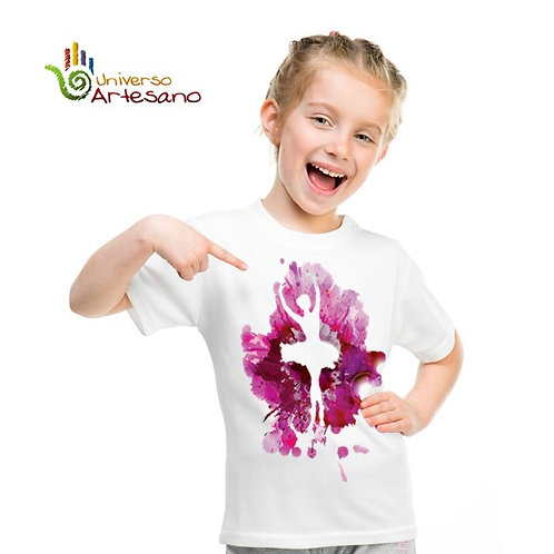 Cotton T-shirt for kids, hand painted | Universo Artesano | Peru