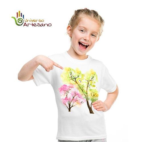 Cotton T-shirt for kids, hand painted | Universo Artesano | Peru