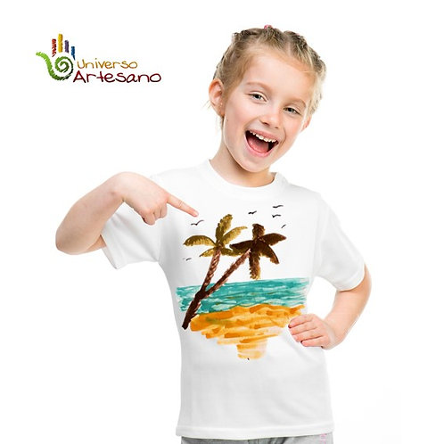 T-shirt for kids, hand painted | Universo Artesano | Peru