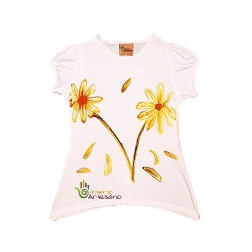 Girl T-shirt, pima cotton, hand painted | Universo Artesano | Peru